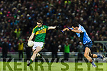 Stephen O'Brien Kerry in action against Cian O'Sullivan Dublin in the National League in Austin Stack park on Saturday night.