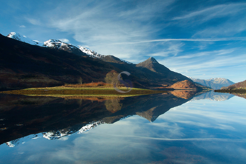 Loch Leven, Sgorr nam Fiannaidh and Sgorr na Ciche from near Kinlochleven, Lochaber