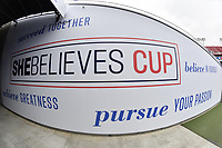Tampa, FL - Tuesday March 05, 2019: The women's national teams of the United States (USA) and Brazil (BRA) play in a 2019 SheBelieves Cup match at Raymond James Stadium.
