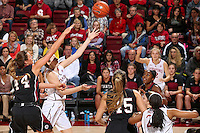 STANFORD, CA - December 14, 2014: Stanford Cardinal vs the Santa Clara Broncos at Maples Pavilion.  Stanford defeated the Broncos 82-43.
