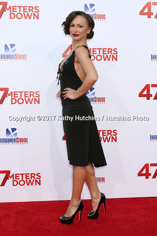 "LOS ANGELES - JUN 12:  Karina Smirnoff at the ""47 Meters Down"" Premiere at the Village Theater on June 12, 2017 in Westwood, CA"