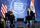 United States President Barack Obama holds bilateral meeting with Prime Minister Dr. Manmohan Singh of India prior to the Nuclear Security Summit at the Blair House, Sunday, April 11, 2010 in Washington, DC. .Credit: Olivier Douliery / Pool via CNP
