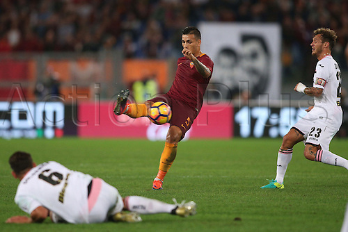 23.10.2016. Rome, Italy.  Paredes in action during the Serie A league  match between Roma  and Palermo in Olimpic stadium, Rome.   Rome won the game by a score of 4-1.