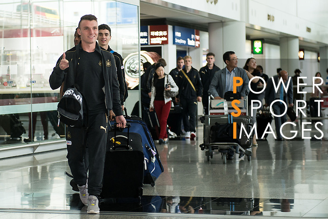 Newcastle United arrive to the Hong Kong International Airport ahead the HKFC Citibank Soccer Sevens 2014 on May 21, 2014 in Hong Kong, China. Photo by Aitor Alcalde / Power Sport Images