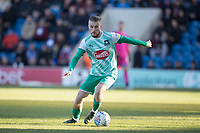 George Cooper of Plymouth Argyle in action during Colchester United vs Plymouth Argyle, Sky Bet EFL League 2 Football at the JobServe Community Stadium on 8th February 2020