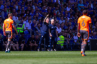 Cardiff City manager Neil Warnock during the Sky Bet Championship match between Cardiff City and Reading at the Cardiff City Stadium, Cardiff, Wales on 6 May 2018. Photo by Mark  Hawkins / PRiME Media Images.