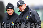 Peter Twiss and Kerry manager Eamonn Fitzmaurice in the national Football League, Division 1, Round 4, at Austin Stack Park, Tralee on Sunday.