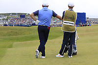 Lee Westwood (ENG) waits to play his 2nd shot on the 18th hole during Saturday's Round 3 of the Dubai Duty Free Irish Open 2019, held at Lahinch Golf Club, Lahinch, Ireland. 6th July 2019.<br /> Picture: Eoin Clarke | Golffile<br /> <br /> <br /> All photos usage must carry mandatory copyright credit (© Golffile | Eoin Clarke)