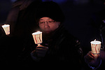 Ming-Min Lin Cheng from the Presbyterian Church in Taiwan participates in a candlelight vigil for peace in the Korean Peninsula on December 9, 2017, in Gwanghwamun Square in Seoul, South Korea. The ecumenical Advent vigil was part of &quot;A Light of Peace&quot; campaign sponsored by the World Council of Churches and the National Council of Churches of Korea.<br /> <br /> Lin Cheng was in Seoul to participate in a WCC Consultation on Ecumenical Diakonia. <br /> <br /> The candlelight vigils were held in Seoul December 3-9, after which churches throughout the country planned to continue the vigils in small towns and villages.
