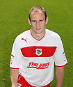 David Gray of Stevenage. Stevenage FC photoshoot -  Lamex Stadium, Stevenage . - 16th August, 2012. © Kevin Coleman 2012
