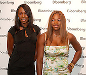Tennis stars Venus and Serena Williams arrive at the Bloomberg party following the 2005 White House Correspondents Dinner in Washington, D.C. on April 30, 2005.<br /> Credit: Ron Sachs / CNP<br /> (RESTRICTION: NO New York or New Jersey Newspapers or newspapers within a 75 mile radius of New York City)
