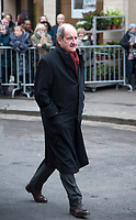 January 12 2018, Paris, France - Funerals of Singer France Gall in Montmartre Cemetery in Paris. Pierre Lescure is present. # OBSEQUES DE FRANCE GALL AU CIMETIERE DE MONTMARTRE