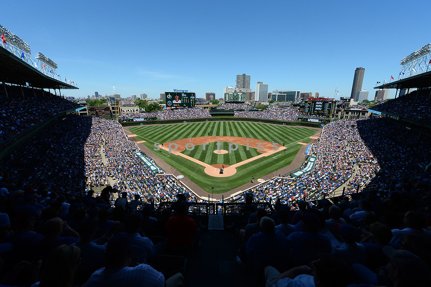 Chicago Cubs during a game against the Pittsburgh Pirates on June 17, 2016 at Wrigley Field in Chicago, IL. The Cubs beat the Pirates 6-0.