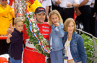 87th Indianapolis 500, Indianapolis Motor Speedway, Speedway, Indiana, USA  25 May,2003.Winner Gil de Ferran and family..World Copyright©F.Peirce Williams 2003 .ref: Digital Image Only..F. Peirce Williams .photography.P.O.Box 455 Eaton, OH 45320.p: 317.358.7326  e: fpwp@mac.com..