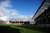 A general view of Kingsholm Stadium. Aviva Premiership match, between Gloucester Rugby and Bath Rugby on October 1, 2016 at Kingsholm Stadium in Gloucester, England. Photo by: Patrick Khachfe / Onside Images