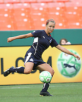 Sarah Senty #2 of the Washington Freedom during a WPS match against St. Louis Athletica at RFK Stadium on July 18 2009, in Washington D.C. Freedom won the match 1-0.