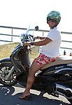 Italian man on a motorbike, Basilicata, ITALY