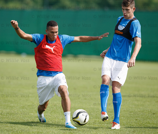Arnold Peralta steams in on Kyle McAusland