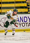 13 November 2015: University of Vermont Catamount Defender Katherine Pate, a Sophomore from Saco, Maine, in action against the Providence College Friars at Gutterson Fieldhouse in Burlington, Vermont. The Lady Friars defeated the Lady Cats 4-1 in Hockey East play. Mandatory Credit: Ed Wolfstein Photo *** RAW (NEF) Image File Available ***