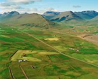 Efri-Rauðalækur, Neðri-Rauðalækur séð til vesturs, Hörgárbyggð áður Glæsibæjarhreppur / Efri-Raudalaekur and Nedri-Raudalaekur viewing west, Horgarbyggd former Glaesibaejarhreppur.