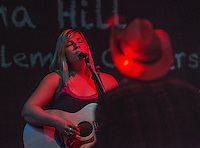 "Emma Hill performs during the release party for her album ""Ten Years"" album at Taproot."