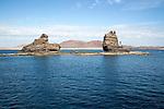 Sae stacks off Punta Fariones, Chinijo Archipelago, Orzola, Lanzarote, Canary Islands, Spain