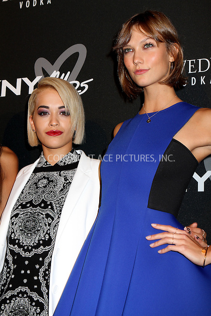 WWW.ACEPIXS.COM<br /> <br /> September 9, 2013, New York City<br /> <br /> Rita Ora and Karlie Kloss at the DKNY 25 Birthday Bash on September 9, 2013 in New York City. <br /> <br /> By Line: Nancy Rivera/ACE Pictures<br /> <br /> <br /> ACE Pictures, Inc.<br /> tel: 646 769 0430<br /> Email: info@acepixs.com<br /> www.acepixs.com