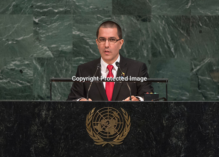 72 General Debate – 25th of September  2017<br /> <br /> H.E. Jorge ARREAZA<br /> <br /> Minister for Foreign Affairs of the BOLlVARIAN REPUBLIC OF VENEZUELA