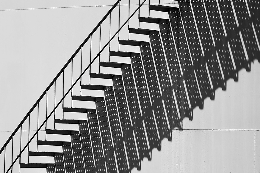 Industrial - Stairs and Shadow Patterns
