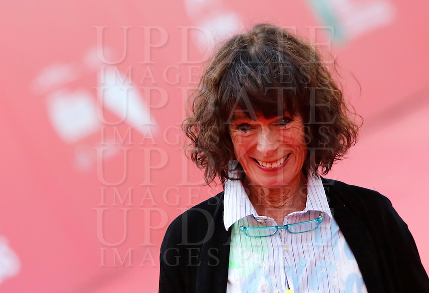 L'attrice Geraldine Chaplin posa sul red carpet al Festival Internazionale del Film di Roma, 22 ottobre 2014.<br /> Actress Geraldine Chaplin poses on the red carpet of the international Rome Film Festival at Rome's Auditorium, ** October 2014.<br /> UPDATE IMAGES PRESS/Riccardo De Luca
