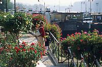 Europe/France/Ile-de-France/78/Yvelines/Conflans-Saine-Honorine: Promenade sur le port fluvial - Capitale française de la Batellerie