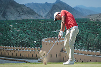 Maximilian Kieffer (GER) during the final round of the Oman Open, Al Mouj Golf, Muscat, Sultanate of Oman. 03/03/2019<br /> Picture: Golffile | Phil Inglis<br /> <br /> <br /> All photo usage must carry mandatory copyright credit (&copy; Golffile | Phil Inglis)