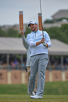 Brice Garnett (USA) watches his tee shot on 11 during Round 2 of the Valero Texas Open, AT&amp;T Oaks Course, TPC San Antonio, San Antonio, Texas, USA. 4/20/2018.<br /> Picture: Golffile | Ken Murray<br /> <br /> <br /> All photo usage must carry mandatory copyright credit (&copy; Golffile | Ken Murray)