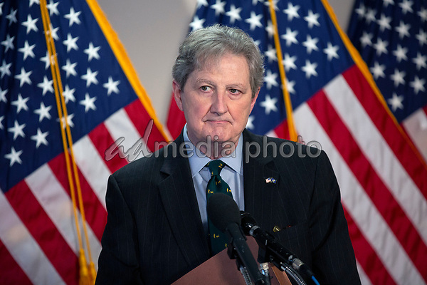 United States Senator John Neely Kennedy (Republican of Louisiana) speaks to the press as he arrives to GOP policy luncheons on Capitol Hill in Washington D.C., U.S., on Tuesday, June 2, 2020.  Credit: Stefani Reynolds / CNP/AdMedia