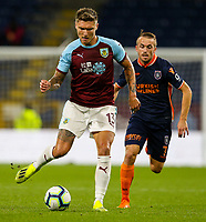 Burnley's Jeff Hendrick gets away from Istanbul Basaksehir's Edin Visca<br /> <br /> Photographer Alex Dodd/CameraSport<br /> <br /> UEFA Europa League - Third Qualifying Round 2nd Leg - Burnley v Istanbul Basaksehir - Thursday 16th August 2018 - Turf Moor - Burnley<br />  <br /> World Copyright © 2018 CameraSport. All rights reserved. 43 Linden Ave. Countesthorpe. Leicester. England. LE8 5PG - Tel: +44 (0) 116 277 4147 - admin@camerasport.com - www.camerasport.com