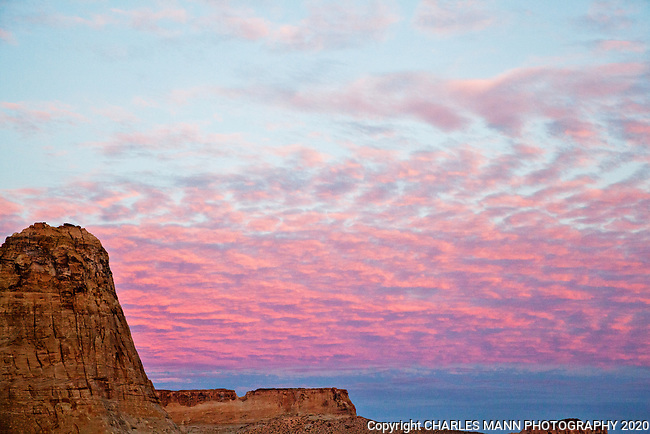 A spoectacular sunrise is one of the things occasionally seen by early risers in the northern Arizona desert neart the Paria canyon Wilderness west of Page, Arizona.