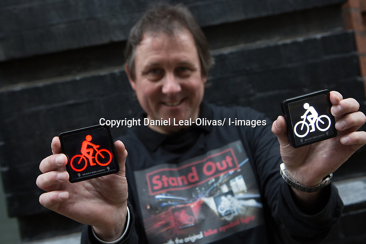 LAUNCH OF BRAINY BIKE LIGHTS TODAY <br /> Monday 7th April 2014:  Picture Caption L-R<br />  <br /> Cathy Hollingworth, wife of inventor of Brainy Bike Lights, Crawford<br /> Mara Klein, keen cyclist, moved recently from Berlin to London and shocked at how little safety there is for cyclists.<br /> Crawford Hollingworth, inventor of Brainy Bike Lights, behavourial scientist and frightened cyclist.   Launched today priced at &pound;45 per pair www.brainybikelights.com Crawford created Brainy Bike Lights in an attempt to improve urban cycle safety.<br /> Cyclist Lucy Rose Pearson.  Lucy's accident happened when a car tried to overtake her when there was no space and basically drove straight into her.  She was badly injured and is still going to hospital for treatment and follow ups &ndash; now passionate to do things to improve cycle safety and wants cycle safety lights/devices to be available and affordable to all.  Cyclist Will Linton.  A dedicated Lycra-wearing road warrior, he was knocked off his bike by a driver opening a car door on him. The result was a broken collar bone, weeks of pain and numerous operations to put it right and reduce the discolouration and scarring.  &quot;Cycling in London is safe, I've just been unlucky,&quot; says Linton, who had no qualms about sitting for such a personal portrait. &quot;There is a risk that the graphic nature of my injuries could put people off, but that's not the point. I got back on my bike as soon as I could, and thankfully now the scars are fading.&quot;<br /> <br /> <br /> Crawford Hollingworth co-founded behavioural economics driven research consultancy The Behavioural Architects in 2012 (the agency won Best New Agency 2013). He invented and developed the lights over the last three years in Oxford and they have been the subject of original research by the Experimental Psychology Department at the University of Oxford.<br /> &ldquo;Cognitive functions of tired drivers are strained - especially in rush hour when many drive on autopilot. I spend a lot of time riding to meetings on Boris bikes so I'm hyper aw