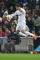 11.04.2012 MADRID, SPAIN - La Liga match played between At. Madrid vs Real Madrid (1-4) with hat-trick of Cristiano Ronaldo at Vicente Calderon stadium. The picture show Cristiano Ronaldo (Portuguese forward of Real Madrid)