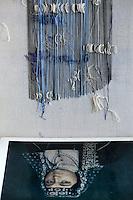 close up of modern artwork