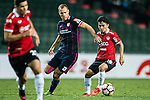 Muangthong United Midfielder Chanathip Songkrasin (r) dribles SC Kitchee Defender Krisztin Vadocz (l) during the 2017 Lunar New Year Cup match between SC Kitchee (HKG) vs Muangthong United (THA) on January 28, 2017 in Hong Kong, Hong Kong. Photo by Marcio Rodrigo Machado/Power Sport Images