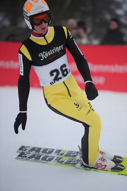BROTTERODE, GERMANY - FEBRUARY 16: Killian Peier of Switzerland (SUI) during the final round of the FIS Continental Cup at the Inselbergschanze on February 16, 2013 in Brotterode, Germany. (Photo by Dirk Markgraf)