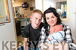 Rebecca Cremin and Owen Reen and baby Jayden pictured in Kerry General Hospital on Tuesday.