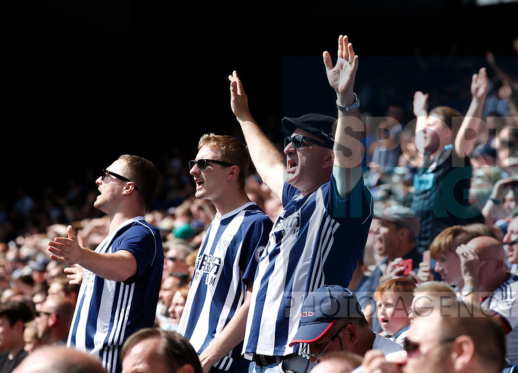 West Bromwich Albion fans during the premier league match at the Hawthorn's Stadium, West Bromwich. Picture date 27th August 2017. Picture credit should read: Simon Bellis/Sportimage