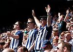 West Bromwich Albion fans during the premier league match at the Hawthorn's Stadium, West Bromwich. Picture date 27th August 2017. Picture credit should read: Simon Bellis/Sportimage