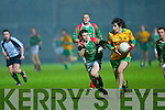 Don Murphy Gneeveguilla make a go of it as Bernard Kelly St Michael in The Castleisland mart County Intermediate Club Final 2008 at Austin Stack Park, Tralee on Wednesday night............................ ..............................St Michael Foilmore v Gneeveguilla in The Castleisland Mart County Intermediate Final 2008 at Austin Stack Park Tralee on Wednesday