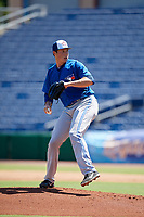 Toronto Blue Jays pitcher Nate Pearson (35) delivers a pitch during a Florida Instructional League game against the Philadelphia Phillies on September 24, 2018 at Spectrum Field in Clearwater, Florida.  (Mike Janes/Four Seam Images)