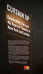 Curtain Up: Celebrating the Last 40 Years of Theatre in New York and London Exhibition on June 14, 2017 at the New York Public Library for the Performing Arts at Lincoln Center.