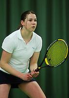 10-3-06, Netherlands, tennis, Rotterdam, National indoor junior tennis championchips, Myrthe Pelskamp