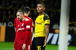 10.11.2018, Signal Iduna Park, Dortmund, GER, 1.FBL, Borussia Dortmund vs FC Bayern M&uuml;nchen, DFL REGULATIONS PROHIBIT ANY USE OF PHOTOGRAPHS AS IMAGE SEQUENCES AND/OR QUASI-VIDEO<br /> <br /> im Bild | picture shows:<br /> Manuel Akanji (Borussia Dortmund #16) mit Franck Ribery (Bayern #7), <br /> <br /> Foto &copy; nordphoto / Rauch
