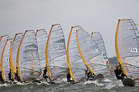 Medemblik - the Netherlands, May 27th 2009. Delta Lloyd Regatta in Medemblik (27/31 May 2009). Day 1. Start RS:X men.